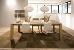 Hülsta ET 1400, une table à dîner en chêne massif naturelle et design