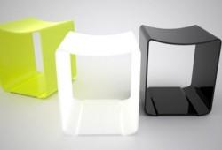Tabouret design empilable Salon stool