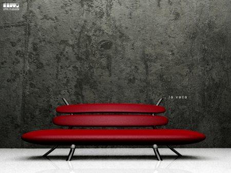 sofa rouge design La Vaca - Umo Masada