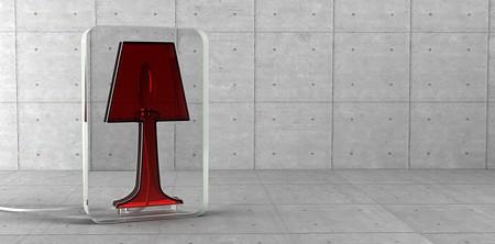 lampadaire design plexiglas