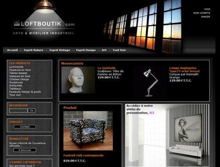 Loftboutik, boutique de mobilier industriel pour loft
