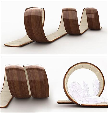 Loopita - fauteuil design en forme de boucle