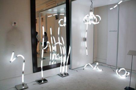 photo du luminaire Bamboo light system, bambou lumineux