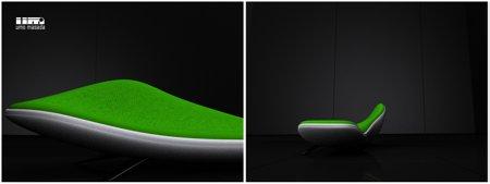 Méridienne design vert Une prairie - Umo Masada