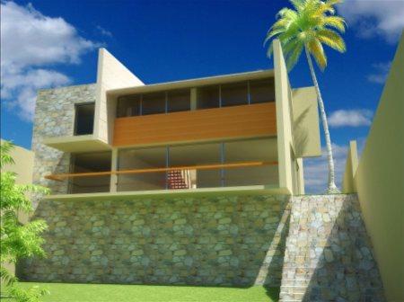 maison contemporaine en image 3d