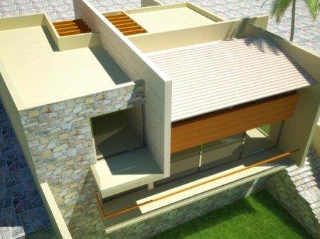 maison contemporaine avec toît terrasse