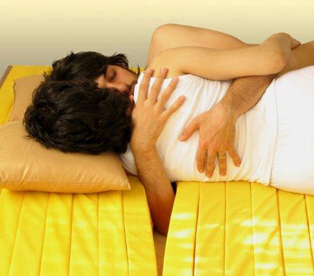 matelas découpé en lamelles pour les amoureux - Love mattress