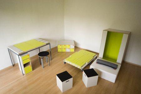 montage des meubles mobiles Casulo