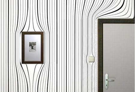 papier-peint design effet optique - Surrealien