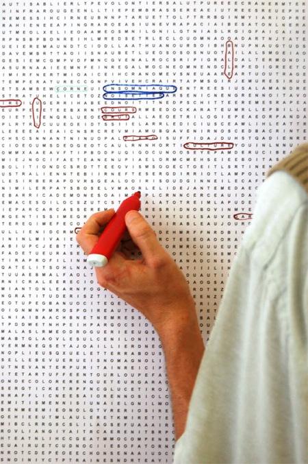 papier-peint mots-mêlés - 5.5 designers