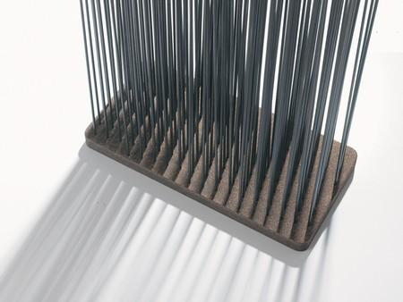 photo détail paravent design avec tiges Sticks