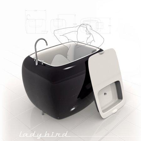 Mini baignoire avec lavabo amovible for Petites baignoires