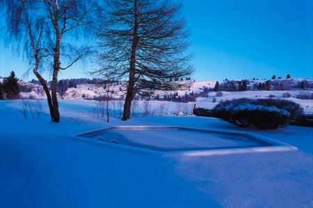 piscine dans la neige Piscinelle