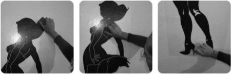 tutorial pour apprendre à coller un sticker mural