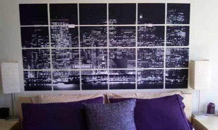 poster de photos de New York dans une chambre réalisé avec le logiciel Rasterbator