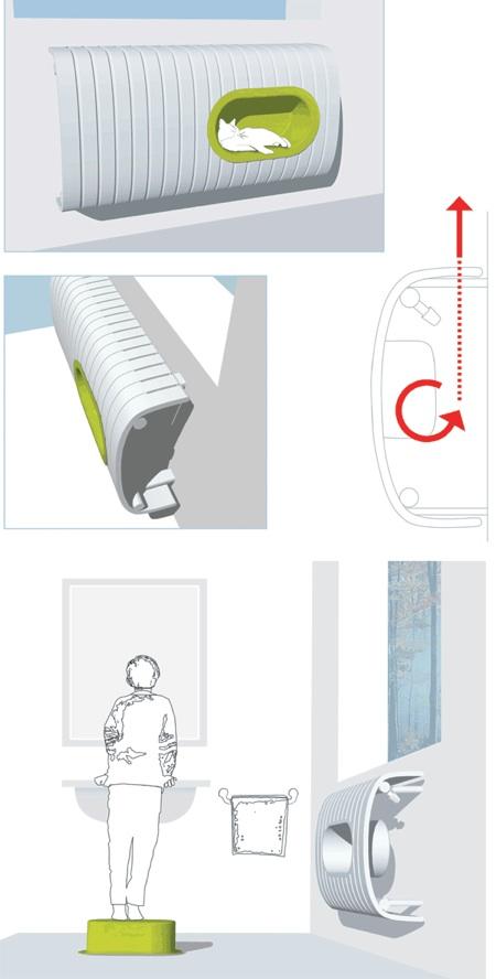 radiateur Fedora avec niche amovible integrée