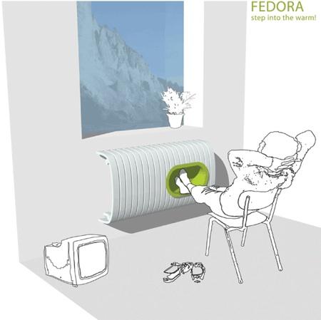 radiateur fedora design par Christine Birkhoven
