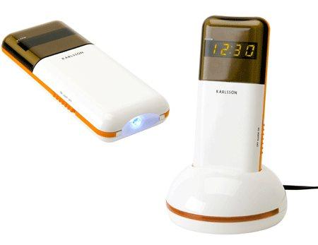 photo du réveil design avec vibreur et lampe de poche intégrée