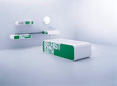 salle de bain design Loop avec panneaux graphiques personnalisables