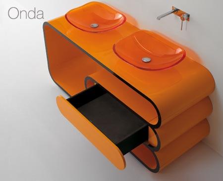 salle de bain orange Onda - Il bagno Bandini