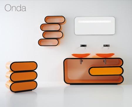 salle de bain orange Onda