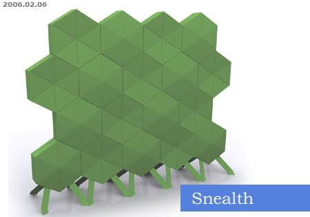 Snealth, cloison acoustique amovible pour le bureau