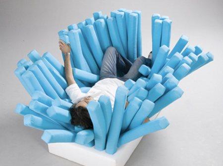 sofa en forme de brosse à dent géante Be inspired