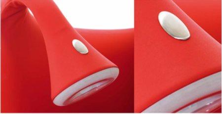 détail des antennes lumineuses du canapé-lit convertible Morfeo
