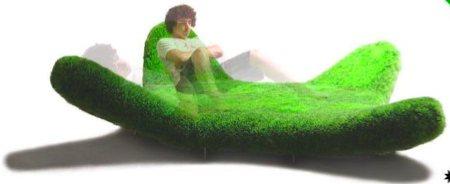 sofa herbe vert pelouse - Serra Armchair