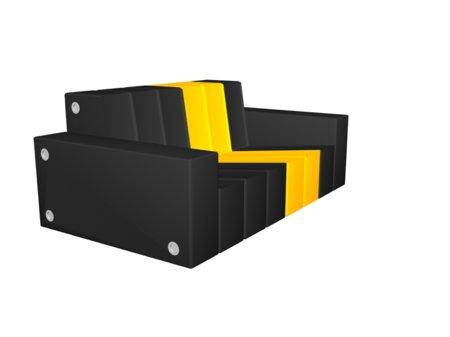 sofa modulable My noir et jaune