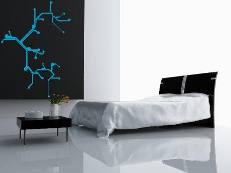 sticker déco Wall print dans une chambre design