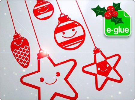 stickers de décoration spécial Nöel Eglue