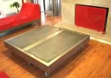 table basse design en béton et acier