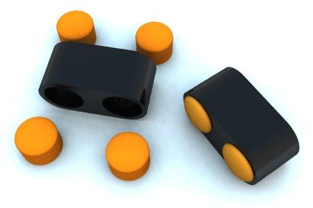 table basse noir avec poufs jaunes intégrés