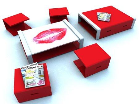 table basse personnalisée en plexiglas Composition - Stéphane Perruchon design