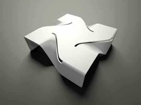 table basse design blanche Vertigo - Aquili Alberg - Moroso