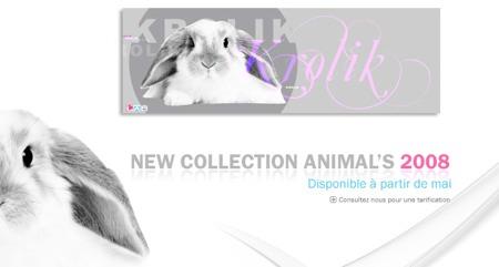 tableau design avec un lapin