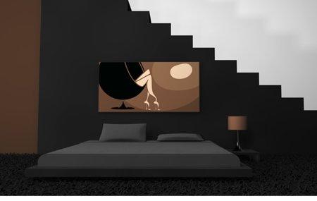 tableau design Bubble lounge mis en situation dans un intérieur design