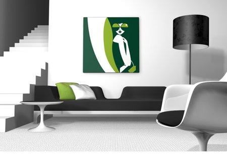 tableau design vert pomme et vert foncé Green andie bag - Fred Qora & Nanoo Shaï