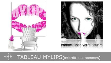 tableau de vos lèvres My lips - Lab2design