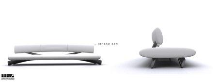 sofa blanc design Tanaka San - Umo Masada