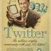 Posters vintage des réseaux sociaux Facebook, Twitter, YouTube et Skype