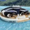 Solar floating resort, une île artificielle motorisée à l'énergie solaire