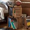 Idée rangement : Des caisses en bois vintage pour ranger vos affaires