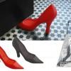 Bloque-porte design chaussure rouge
