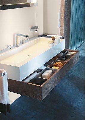 photo tiroir sous vasque salle de bain Keuco