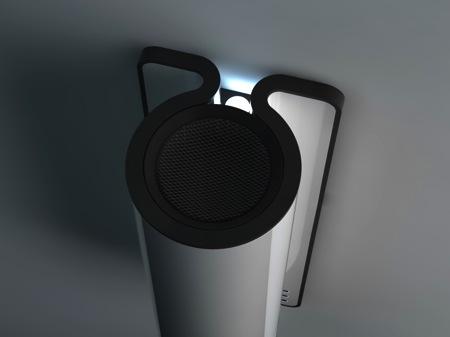 Le radiateur futuriste d'Andrey Vostrikov vu de dessus