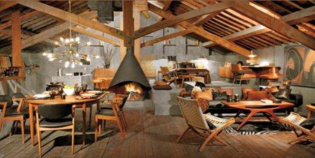 Zara home, collection 2007-2008 - ambiance cosy avec des meubles en bois